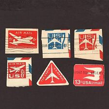 Scott UC18I UC33-34 UC36 UC40 UC47 USA used embossed envelope postage stamp wwg