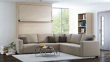 Schrankbett Wandbett mit Sofa Ecke Leggio Linea STD-STD 120 x 200cm Mainau Birke