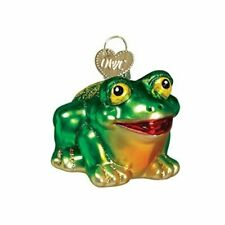 Old World Christmas 12166 Glass Blown Hop-Along Frog Ornament