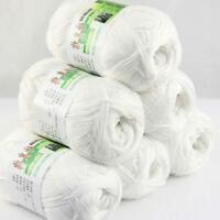 Sale Lot 6 ballsx50g Super Soft Bamboo Cotton Baby Hand Knitting Crochet Yarn 01