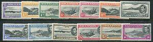 Ascension KGVI 1938-52 perf. 13 ½d-10s SG 38b-47b hinged mint (cat. £156 as u/m)