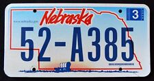 "NEBRASKA "" COVERED WAGON "" 52 - A385 "" 2006 NE Vintage Classic License Plate"