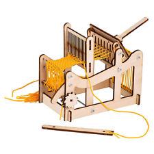 Wooden Weaving Loom Machine Model Handmade Craft Kids Gift Educational Supply