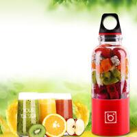 500ml Electric Juicer Cup Travel USB Rechargeable Blender Juice Maker Mixer N3Z3