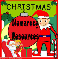 CHRISTMAS MATHS NUMERACY  TEACHING RESOURCES EYFS KS1 Teacher Childminder CD ROM