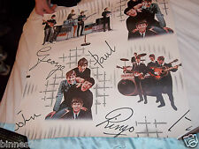 AMAZING THE BEATLES WALLPAPER Original FROM 1964  AWESOME CONDITION !