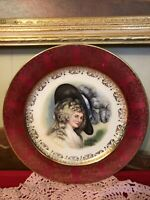 Vintage Homer Laughlin Gainsborough VICTORIAN LADY Plate Signed