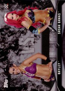 2016 Topps WWE Divas Revolution Rivalries #3 Bayley vs. Sasha Banks - NM-MT