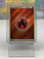 SHIPS SAME DAY Pokemon Card NM 2019 Reverse Holo Red Fire Energy Unnumbered TCG