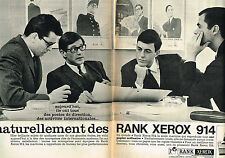 PUBLICITE ADVERTISING 084  1964  RANK XEROX  photocopieur 914  ( 2 pages)