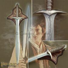 Lotr Lord of Rings Sting Frodo Sword Medieval Bilbo Baggins Hobbit w Wall Plaque