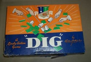 Vintage 1940's DIG Parker Brothers Game Complete Monopoly Rich Uncle Pennybags