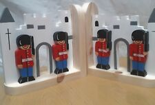 @ HANDMADE WOODEN soldiers BOOKENDS for kids room / nursery