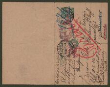 REGNO. Cartolina postale con risposta pagata (millesimo 1910) da cent. 5 + ....