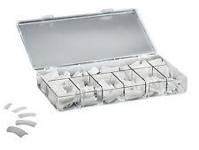 Nagel Tips Natur 250 Set Premium Kunstnägel Box künstliche Fingernägel Nägel