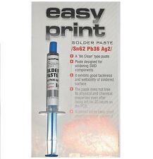 SMD Solder Paste Sn62 Pb36 Ag2, Syringe 8g  - Fast Delivery