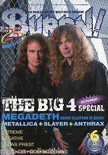 Burrn! Heavy Metal Magazine June 2010 Japan Megadeth Anthrax Slayer Metallica