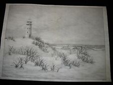* TRI CHEM 2414 LIGHTHOUSE SAND DUNES GRASS Liquid Embroidery Picture TRICHEM