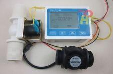 "G1"" Water Flow Control LCD Display+Flow Sensor Meter+Solenoid Valve Gauge"