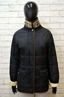 BURBERRY Donna Giacca Giubbotto Taglia 44 M Giubbino Jacket Nero Cappotto Black