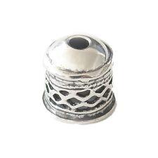 1 Wunderschöne filigrange Endkappe 8mm Sterling Silber 8mm (9,99€/1Stk)