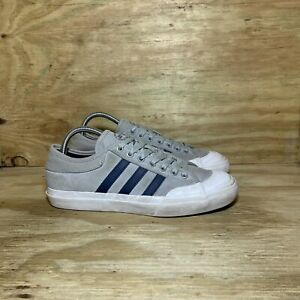 Adidas Matchcourt Lace-Up Sneaker Shoes (BB8555), Men's size 8, Grey/Navy/White