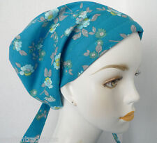 Floral 100% Cotton Cancer Chemo Alopecia Fitted Hair Scarf Turban Hat Headwrap
