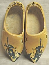 Handmade Large Wooden Shoes Handpainted in Holland - Windmills