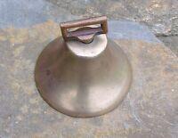 Antique Brass Cow Goat Bell With Original Clapper