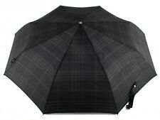 bugatti Gran Turismo Schirm Regenschirm Taschenschirm Herren Check Black Schwarz