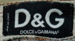 EUC DOLCE & GABBANA women's high-waist distressed ripped finish flare jeans sz30