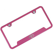 Toyota Notched Pink Stainless Steel License Plate Frame