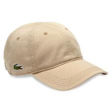 Lacoste 2018 Unisex Rk9811 Adjustable Cotton Plain Cap Sport Hat KREMA