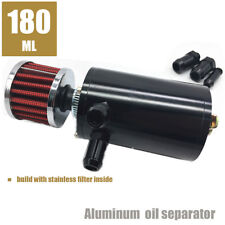180ML Engine oil separator catch with stainless filter inside can breather tank