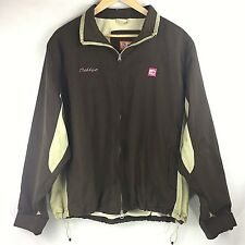 Dunkin Donuts Adult Jacket Coat Medium M Tan Brown Debbye Insulated Warm Winter