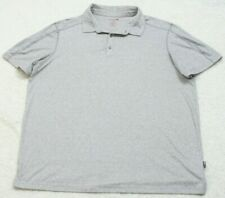 SwissTech Polo Shirt Short Sleeve XXL Gray Solid Man's Men's Poly Cotton Spandex