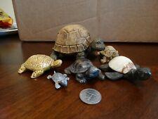 Lot Of 6 Ceramic Stone & Resin Turtle Figurines!
