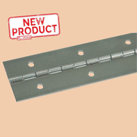 """1"""" x 72"""" Piano Hinge Steel Continuous  36 Holes Full Surface Non Removable Pin"""