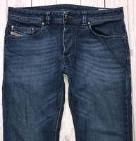 Mens DIESEL Safado Jeans W32 L32 Blue Regular Slim Straight Wash R845B_STRETCH