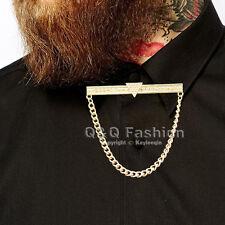 Mens Triangle Dot Chain Shirt Collar Tie Bar Brooch Pin Top Jewelry Fancy Dress
