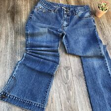RocaWear Skinny Low Rise Flare Blue Jeans 5 6
