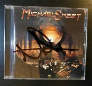 "MICHAEL SWEET/STRYPER - AUTOGRAPHED ""TEN"" SIGNED CD CASE & NEW CD 2019"