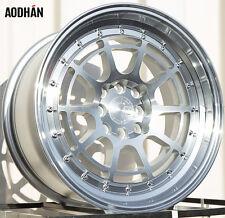 AODHAN AH04 16X8 4X100/114.3 ET15 Silver Wheels Fits Corolla Golf Passat Cabrio