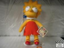 Lisa Simpson 12 inch plush doll, The Simpsons; Applause; stand; keychain