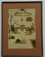 1974 How to Dispense of Servants in the Dining Room William Heath Robinson Print