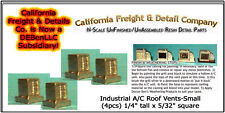 Industrial Roof Vents-Small (4pcs) N/1:160-Scale Craftsman CAL Freight & Details