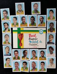 1958 Pelé Brasil Editora Aquarela Empty Album + 24 cards, Pele Brazil, Reprint