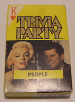 Hollywood Vintage Arrco Deck of Trivia Party Playing Cards People Edition