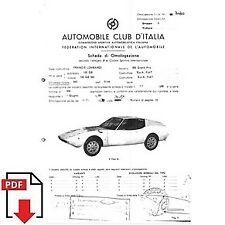 1970 Francis Lombardi 850 Grand Prix FIA homologation form PDF download (ACI)