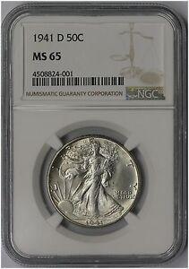 1941-D 50C NGC MS 65 Liberty Walking Half Dollar